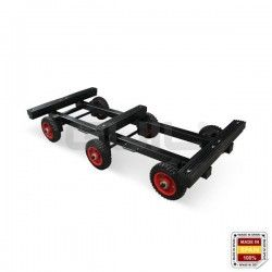 CP-03 Heavy duty trolley for carrying pianos (Tilting design). Six wheels.