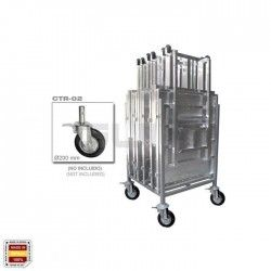 CTO-ATV Container / Car for the storage and transport of anti-avalanche barriers and doors