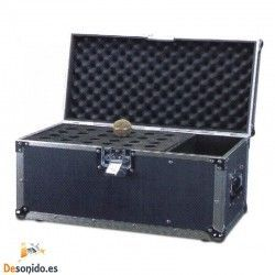 24 MICRO CASE Transport case for 24 microphones with compartment for accessories such as cables.