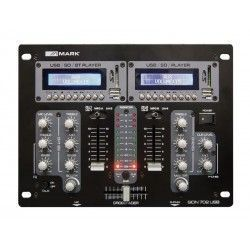 Work SION 702 USB DJ mixer. 2 stereo channels. USB / SDTBT double player. Crossfader