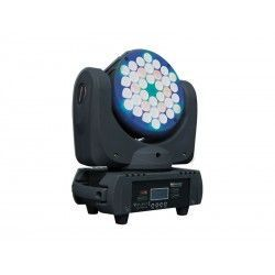 MOVILED 363 W MKII Moving head. 36 3W LEDs c.u. (6R + 12G + 12B + 6W). 14 DMX channels