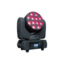 MOVILED 1210 B MKII Moving head. 12 RGBW LEDs (4 in 1) of 10W c.u. 14 DMX channels