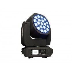 MOVILED EYE 285 Moving head. 19 RGBW LEDs. 15W c.u. 21 DMX channels. Zoom from 4 ° to 60 °