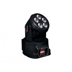 MOVILED 512 Moving head. 5 RGBWA LEDs. 12W c.u. 5 and 14 DMX channels