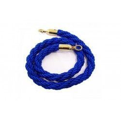 1.5 M. blue curly drawstring with gold terminals.