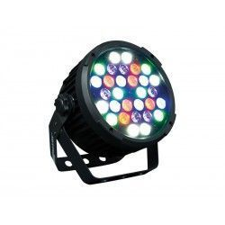 COB 6 UV LED Projector. 30 LEDs R + G + B + W + UV 2W c.u. 9 DMX channels