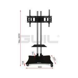 "PTR-08G Mobile support for screens (adjustable up to 80 ""). Tray included (RECLINING HEAD)"