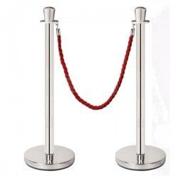 Chrome plated post with ball finish, smooth tube and fitted base. (Cord not included).