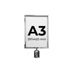 Brochure holder A3. Silver color. Compatible with MPS 50 S and MPS 60 S.