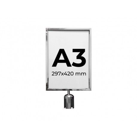 MPS 100 S Brochure Holder A4. Silver color. Compatible with MPS 50 S and MPS 60 S.