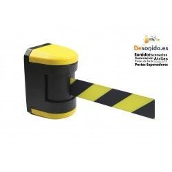 Wall fixing with 4.50 meter black-yellow rotating tape
