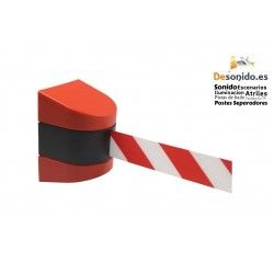 Wall fixing with 10 meter red-white tape