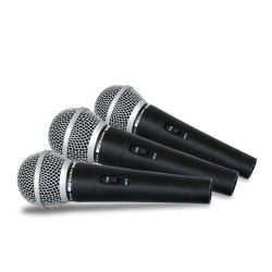 SET DM 44 Set consisting of 3 dynamic microphones with switch.