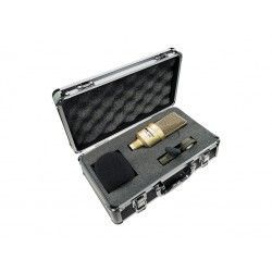 WES 1000 Large Diaphragm Cardioid Condenser Microphone. Includes clamp, windshield and briefcase.