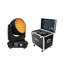 Pack 2 x MOVILED 555 4 + RACK Mobile Wash 800W. 37xLED RGBW 15W.