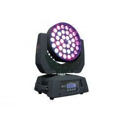 SIDIUS LLC 368 Mobile Head. 36 10W RGBW LEDs 15 and 23 DMX channels. Zoom from 30o to 105o