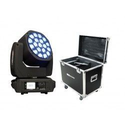 PACK 2x MOVILED EYE 285 MKII + RACK Cabeza móvil Wash. 450 W.