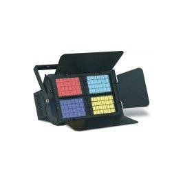 MARK FloodColor 4 DMX is a panorama with 4 lamps, each with dichroic filters and dimmer built.