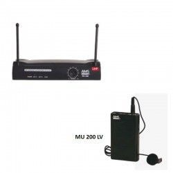 MU 200 LV UHF diversity receiver flask and lapel microphone