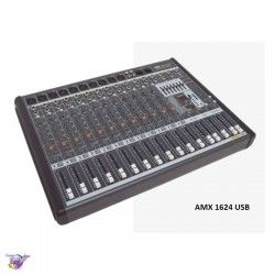 1624 AMX USB mixer 8 mono + 4 stereo channels