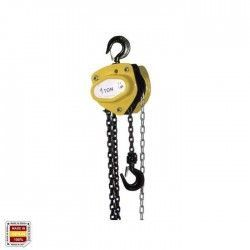 POLI / 3 CHAIN HOIST 6 METERS (1000 kg) Double chain with automatic brake.